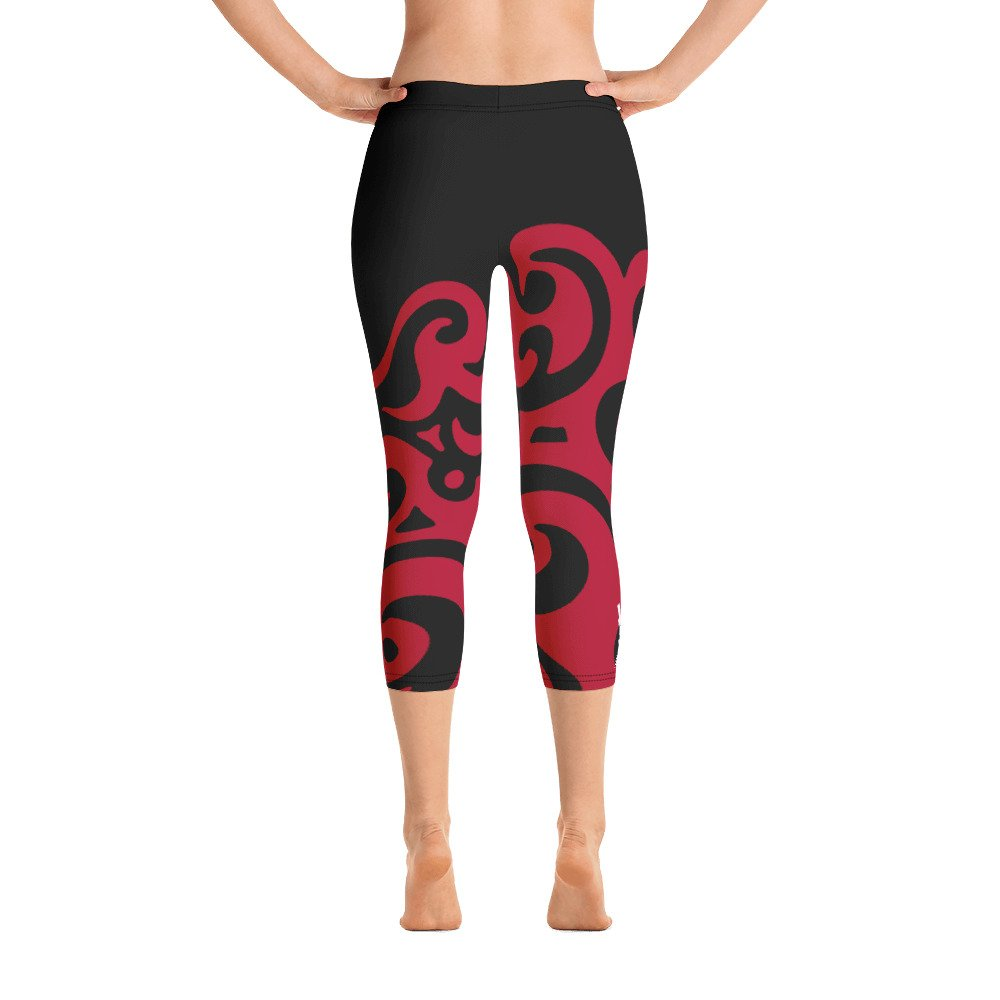 ed1f02b7ac9cf HLD CRW - Capri Leggings - red/black - Keoni's Hot Lava DanceFit